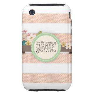 acción de gracias iPhone 3 tough cárcasas