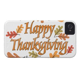 Acción de gracias iPhone 4 cárcasas