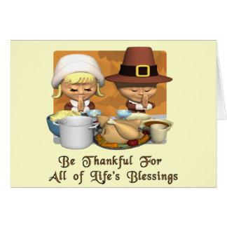 Acción de gracias: Las bendiciones de la vida Tarjeta De Felicitación