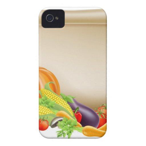 Acción de gracias o voluta del recién hecho iPhone 4 Case-Mate cárcasas