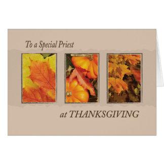 Acción de gracias religiosa de tres hojas del tarjeta de felicitación