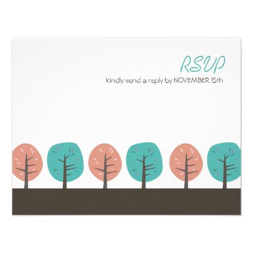 Acción de gracias retra RSVP de los árboles el | d Invitacion Personalizada