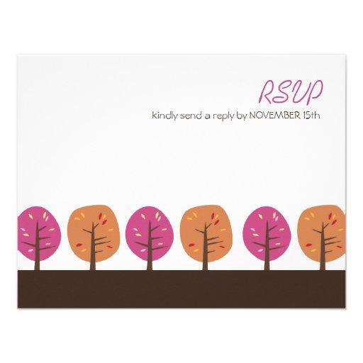 Acción de gracias retra RSVP de los árboles el | d Comunicados Personalizados