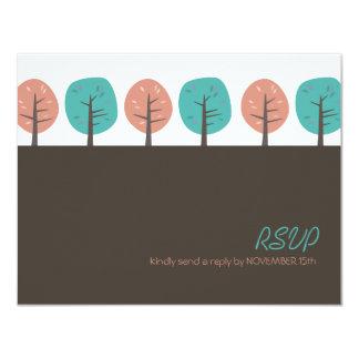 Acción de gracias retra RSVP de los árboles el | Invitación 10,8 X 13,9 Cm