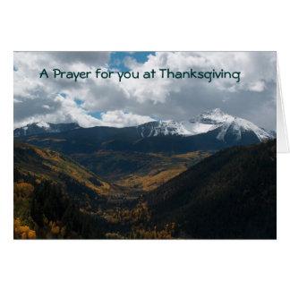Acción de gracias tarjeta