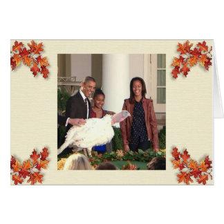 Acción de gracias - tarjeta de felicitación