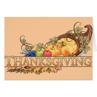 Acción de gracias tarjeta de felicitación