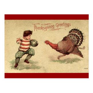 Acción de gracias Turquía del vintage y postal del