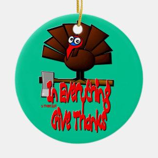 Acción de gracias Turquía - en TODO dé las gracias Adornos