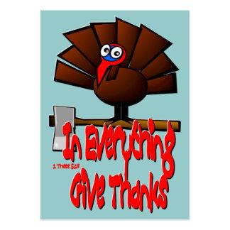 Acción de gracias Turquía - en TODO… Tarjeta de la Tarjetas De Visita