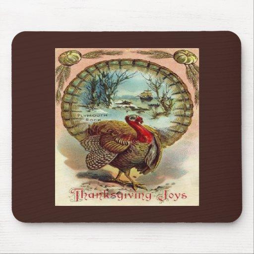 Acción de gracias Turquía Mousepad del vintage Tapete De Raton