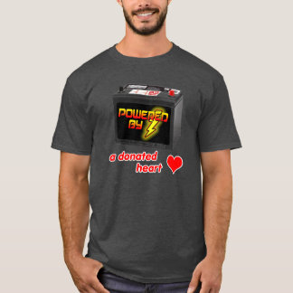 Accionado por una camiseta donada del corazón