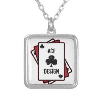 Ace Design Collar Plateado