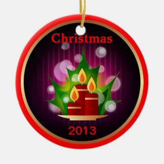 Acebo de las velas del ornamento del navidad 2013  ornamentos para reyes magos