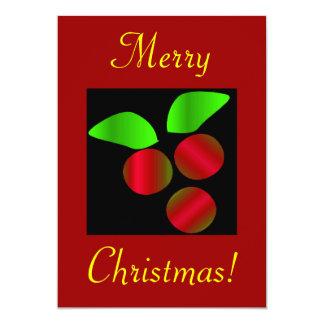 Acebo del navidad II Invitación 12,7 X 17,8 Cm