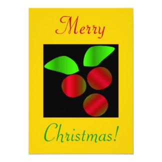 Acebo del navidad III Invitación 12,7 X 17,8 Cm