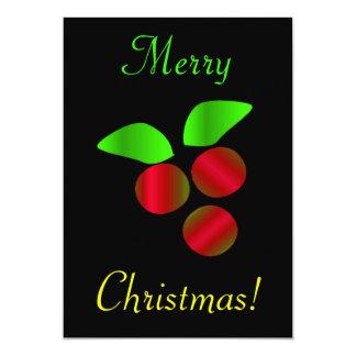 Acebo del navidad invitación 12,7 x 17,8 cm