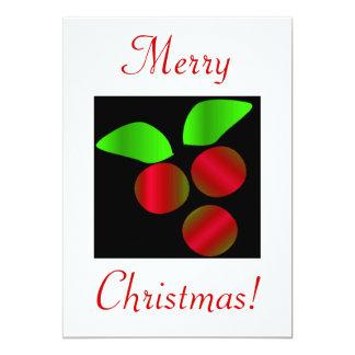 Acebo del navidad V Invitación 12,7 X 17,8 Cm