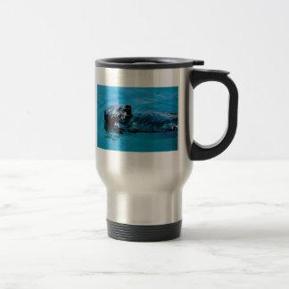 Aceite de la nutria de mar taza de viaje