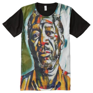 Aceite de Morgan Freeman en el retrato de la lona Camiseta Con Estampado Integral