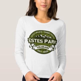 Aceituna del logotipo del parque de Estes Camisas