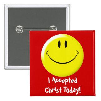 ¡Acepté a Cristo hoy! Pins