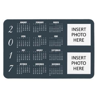 Acero azul grisáceo del imán de 2017 calendarios -