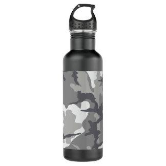 Acero gris de Camo 24 onzas. botella de agua