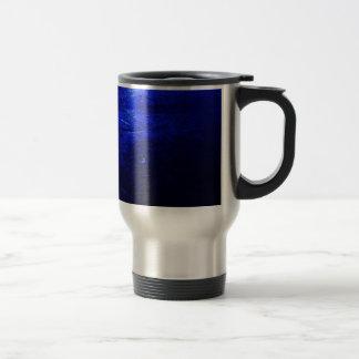 Acero inoxidable azul congelado taza del viaje de