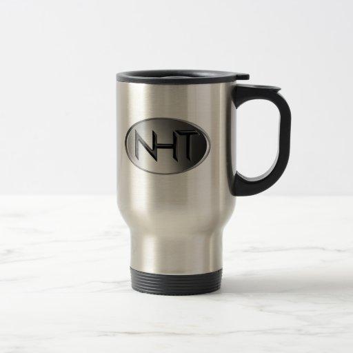Acero inoxidable de la taza del viaje de NHT (logo