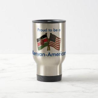 Acero inoxidable Kenyan-Americano taza del viaje