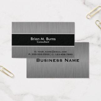 Acero negro ejecutivo del cepillo tarjeta de negocios