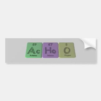 Achoo-CA-Ho-o-actinio-holmio-Oxígeno Pegatina Para Coche
