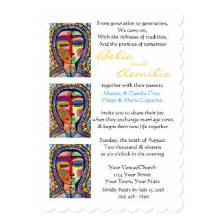 ACLARACIÓN de Guadalupe de la Virgen de la Invitación 12,7 X 17,8 Cm