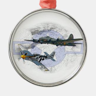 Acompañamiento del vuelo del mustango P-51 Adorno De Cerámica