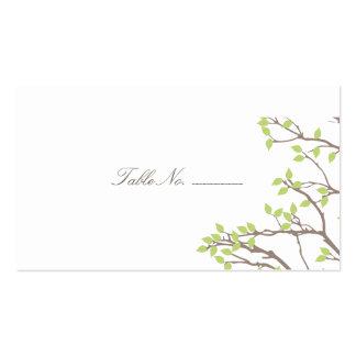 Acompañamiento dichoso de la tabla de ramas tarjetas de visita