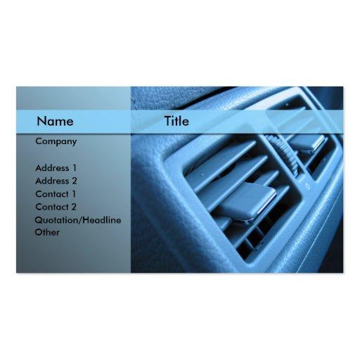 acondicionador de aire del coche plantilla de tarjeta de negocio