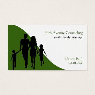 Aconsejando, coche de la vida, terapia, terapeuta, tarjeta de negocios