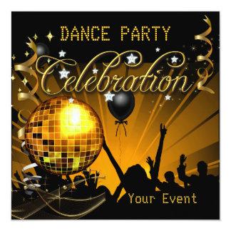 Acontecimiento de la bola de discoteca del baile invitación 13,3 cm x 13,3cm