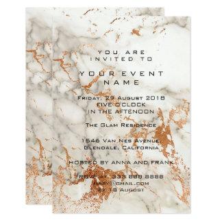 Acontecimiento de piedra de mármol de cobre color invitación 8,9 x 12,7 cm