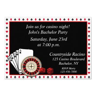Acontecimiento del casino invitación 12,7 x 17,8 cm