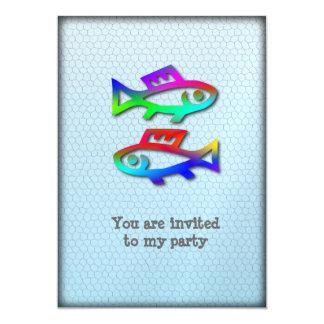Acontecimiento del fiesta de los pescados de arco invitación 12,7 x 17,8 cm