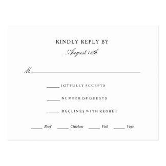 Acontecimiento elegante del boda de la tarjeta de
