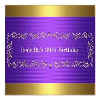 Acontecimiento elegante del cumpleaños de la joya invitación 13,3 cm x 13,3cm