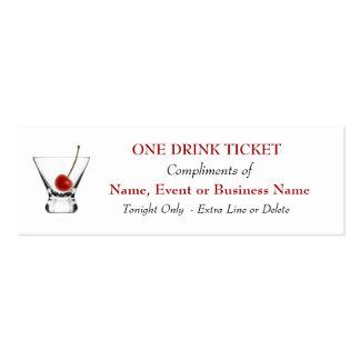 Acontecimientos especiales de la bebida de la barr plantilla de tarjeta personal
