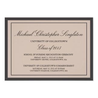 Acontecimientos formales tradicionales de la invitación 12,7 x 17,8 cm