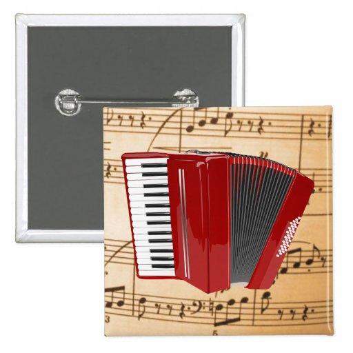 Acordeón: El acordeón rojo Pin