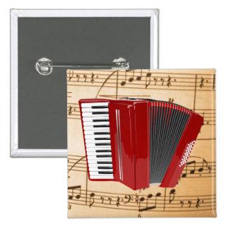 Acordeón El acordeón rojo Pin