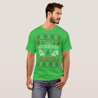 Acordeón para la camiseta fea del suéter del