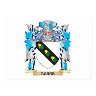 Acres de escudo de armas tarjeta de negocio